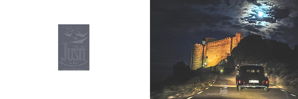 Boda en Talarrubias fotografias castillo puebla alcocer coche clasico