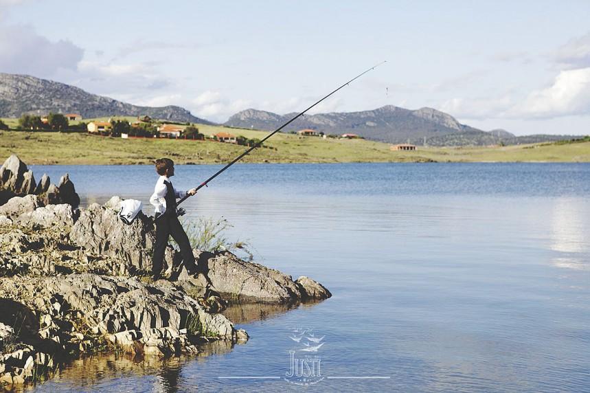 reportaje comunión niño orellana pesca