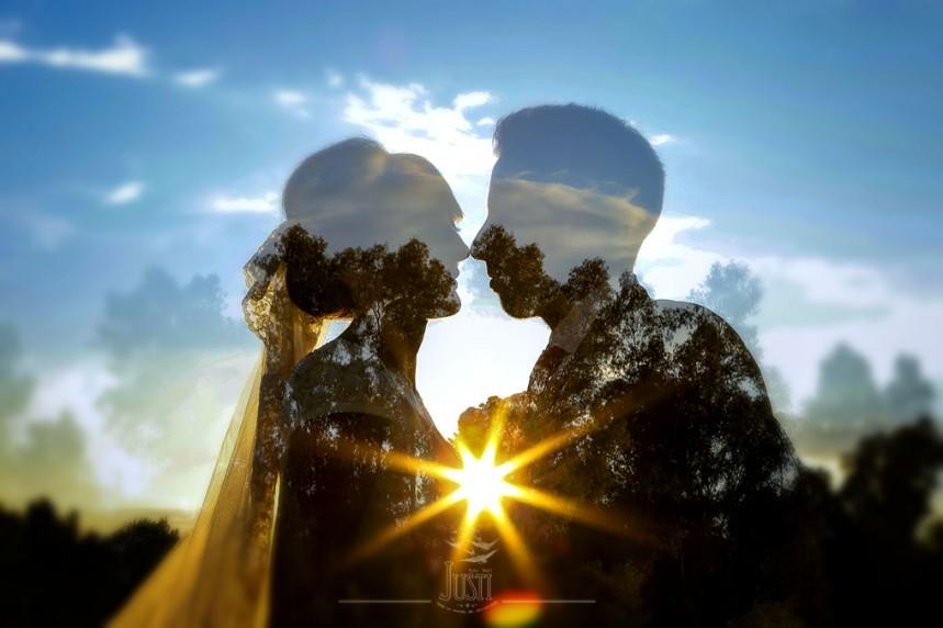 doble exposicion fotografia boda