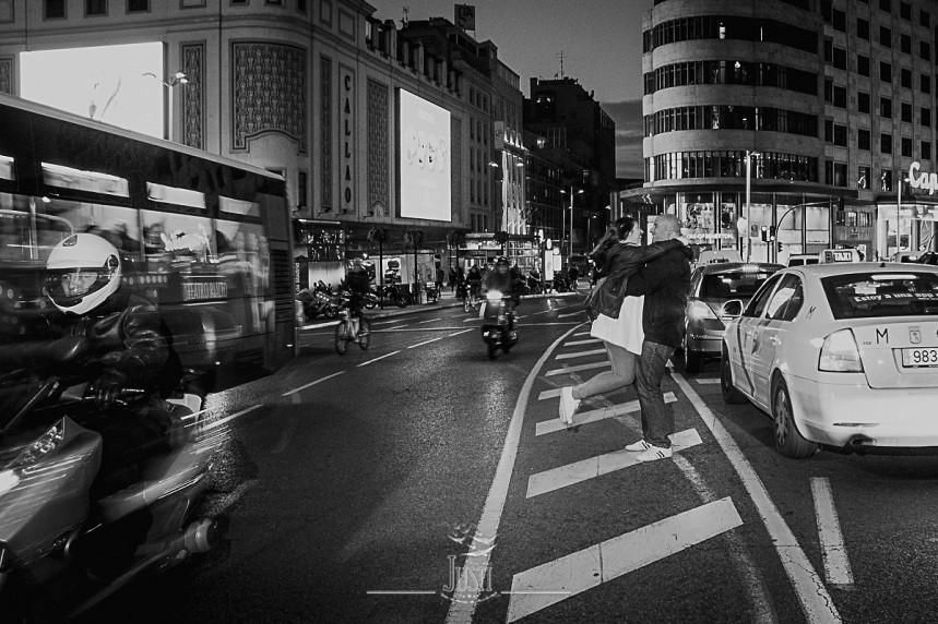 fotos preboda gran via Madrid