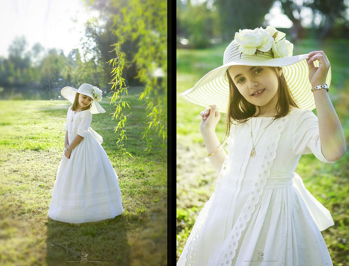 fotos de primera comunion niña en exteriores