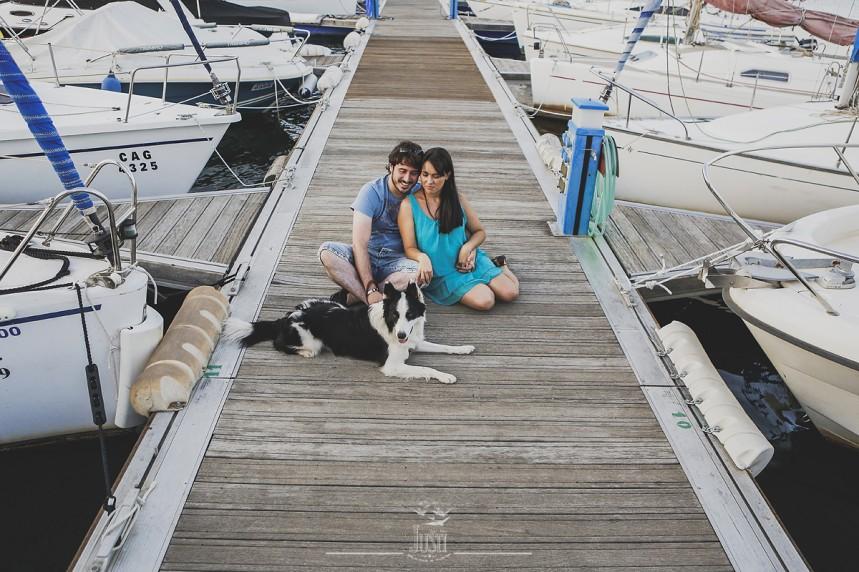Luz y Kamylo - preboda en orellana la vieja con perro-11
