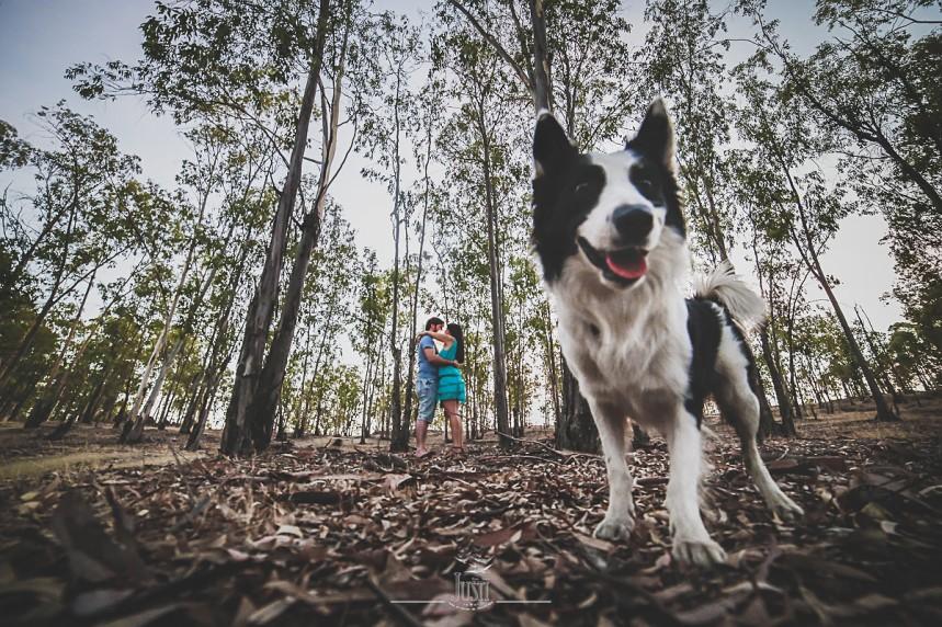 Luz y Kamylo - preboda en orellana la vieja con perro-20