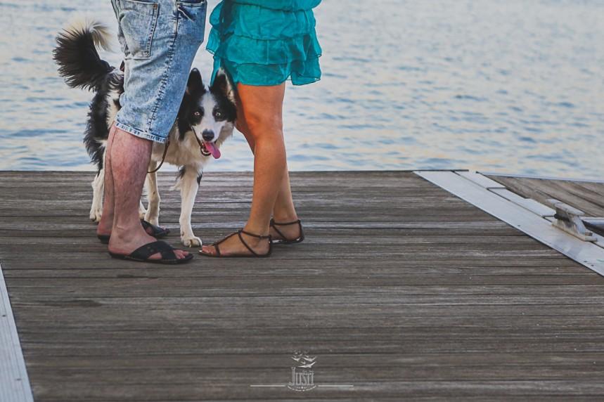 Luz y Kamylo - preboda en orellana la vieja con perro-3