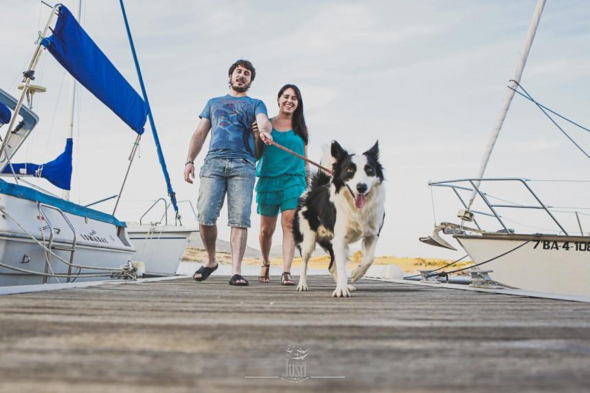 Luz y Kamylo - preboda en orellana la vieja con perro-4