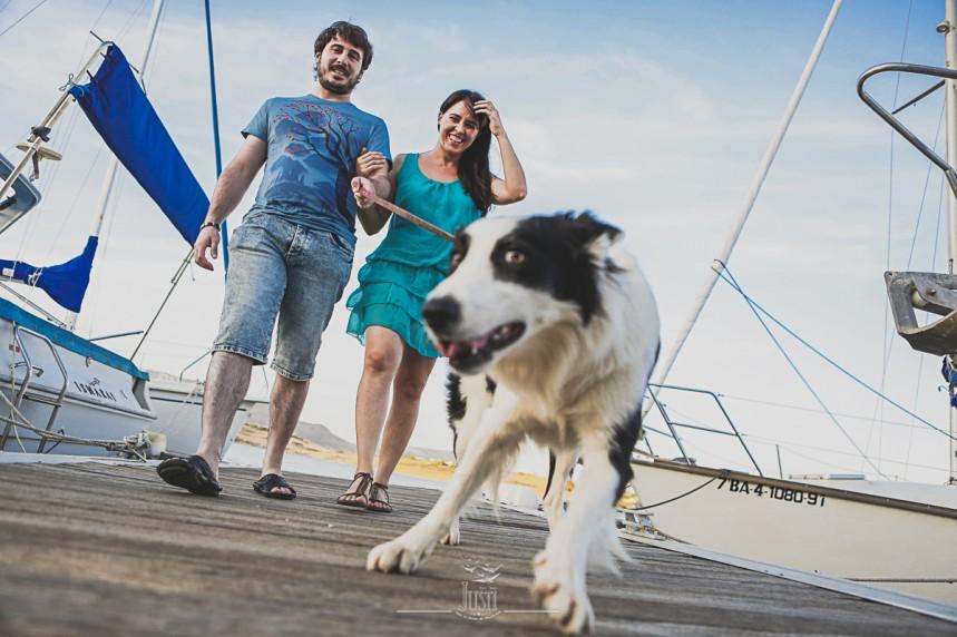 Luz y Kamylo - preboda en orellana la vieja con perro-6