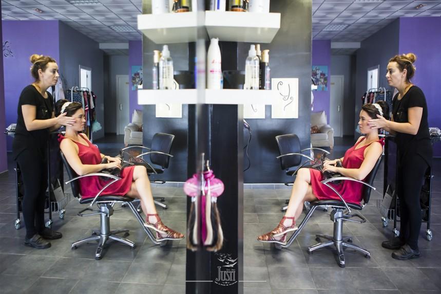 Foto novia en peluqueria